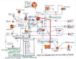 Hand drawn wiring diagram for XLCH  Harley Davidson Forums