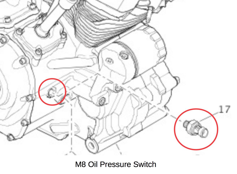 Manual Oil Pressure Gauge For M8 S