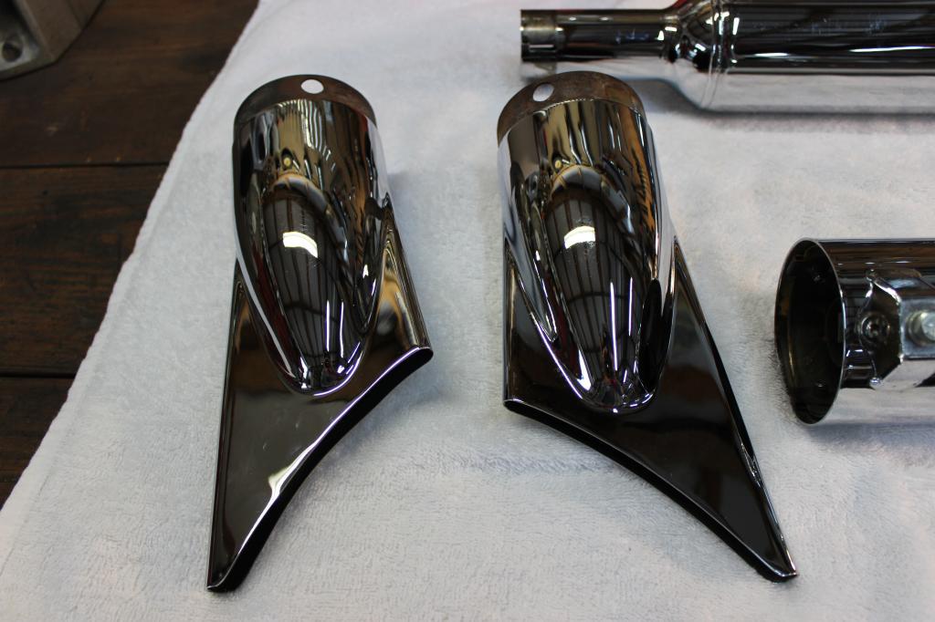 screamin eagle fishtail pipes