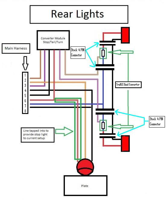 circuit diagram for led tail light circuit image custom motorcycle tail light wiring diagrams custom auto wiring on circuit diagram for led tail light