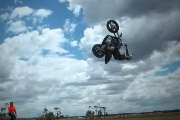 Kain Saul Flips Out on an XR1200 Sportster - Harley Davidson