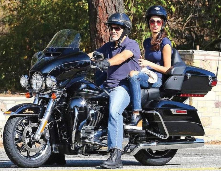 George Clooney 2017 Harley-Davidson FLHTK Ultra Limited touring