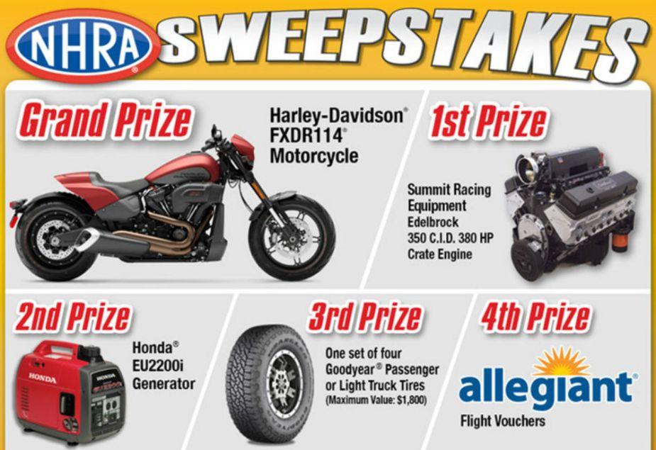 NHRA Sweepstakes - Harley-Davidson FXDR 114
