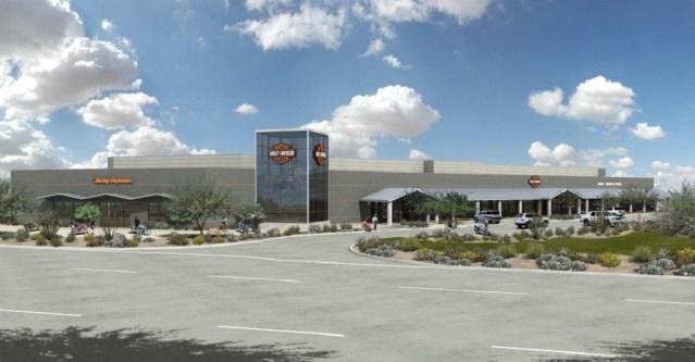 Harley-Dealership Rendering