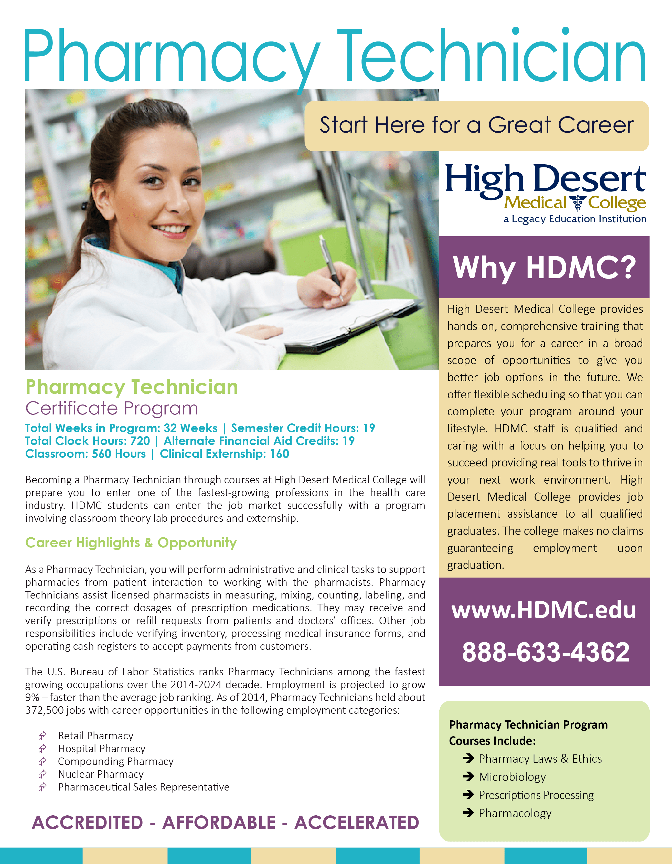 Five Reasons To Study For Your Pharmacy Tech Certification At Hdmc