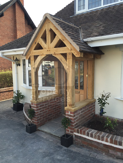 Before And After Photos New Front Doorway With Gabled