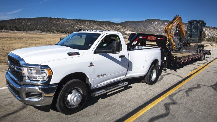 2021 Ram 3500 Tradesman Regular Cab 4x2 Dually with Fifth-Wheel / Gooseneck Towing Prep Group. (Ram).