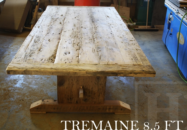 Warm Salvaged Wood Trestle Table In Georgetown On Blog