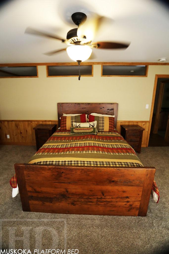 custom reclaimed wood platform bed for