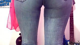 candid jeans cameltoe