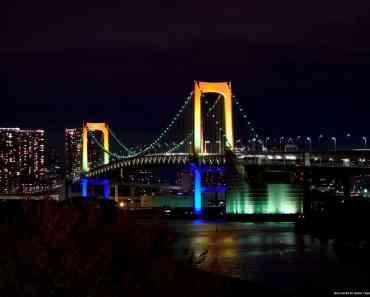 Rainbow Suspension Bridge in Tokyo
