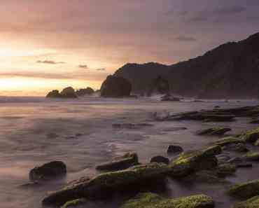 Sunset Papuma beach