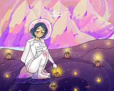 girl in the terrestrial space