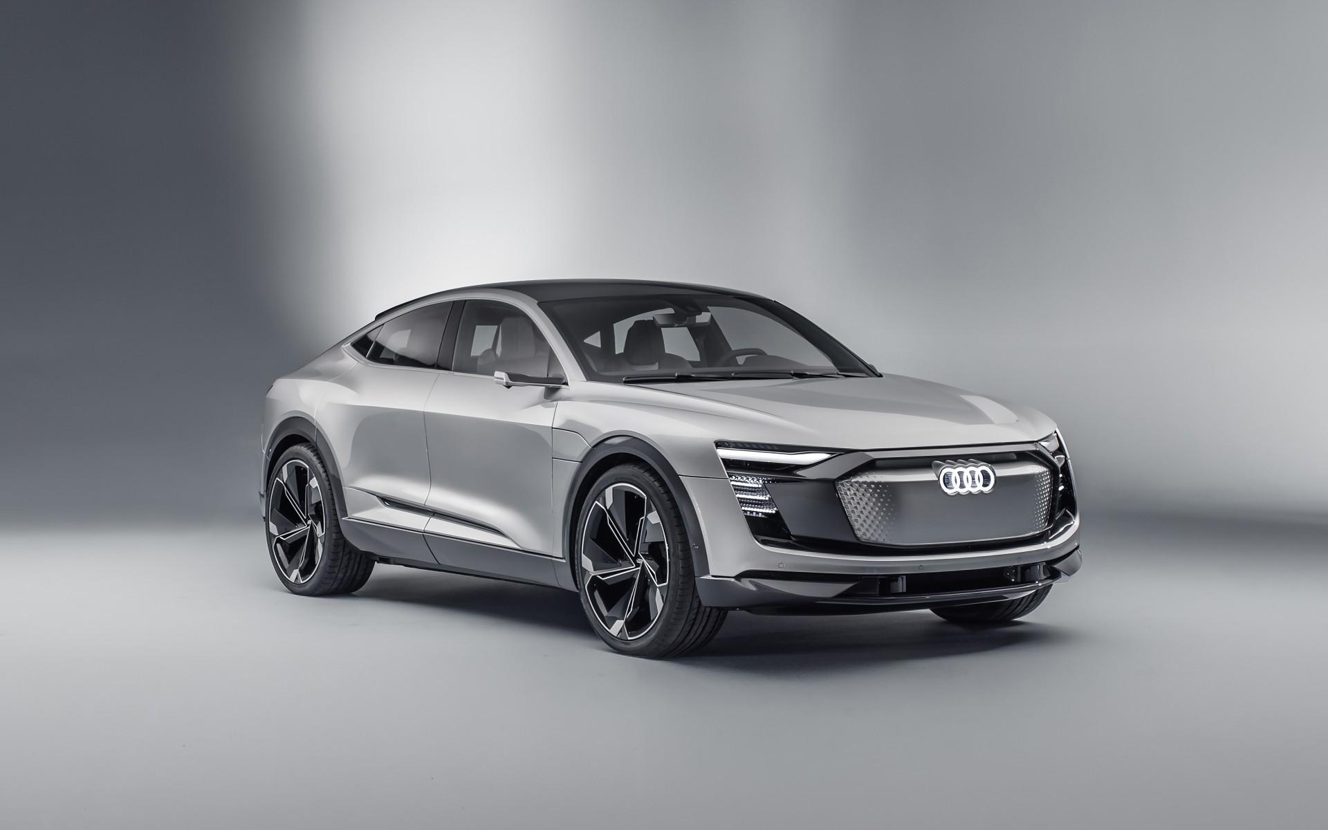 2017 Audi E Tron Sportback Concept Car 4K Wallpapers HD