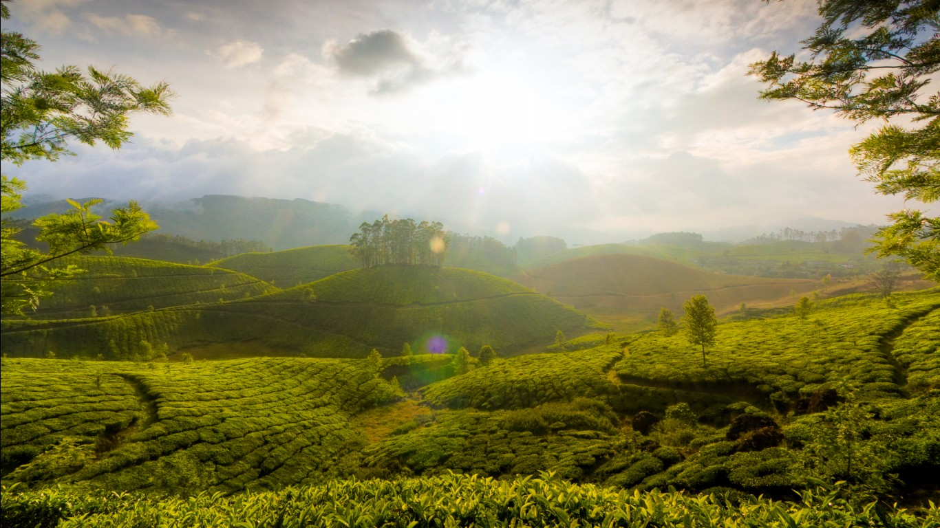 Munnar Hills Kerala India Wallpapers Hd Wallpapers Id