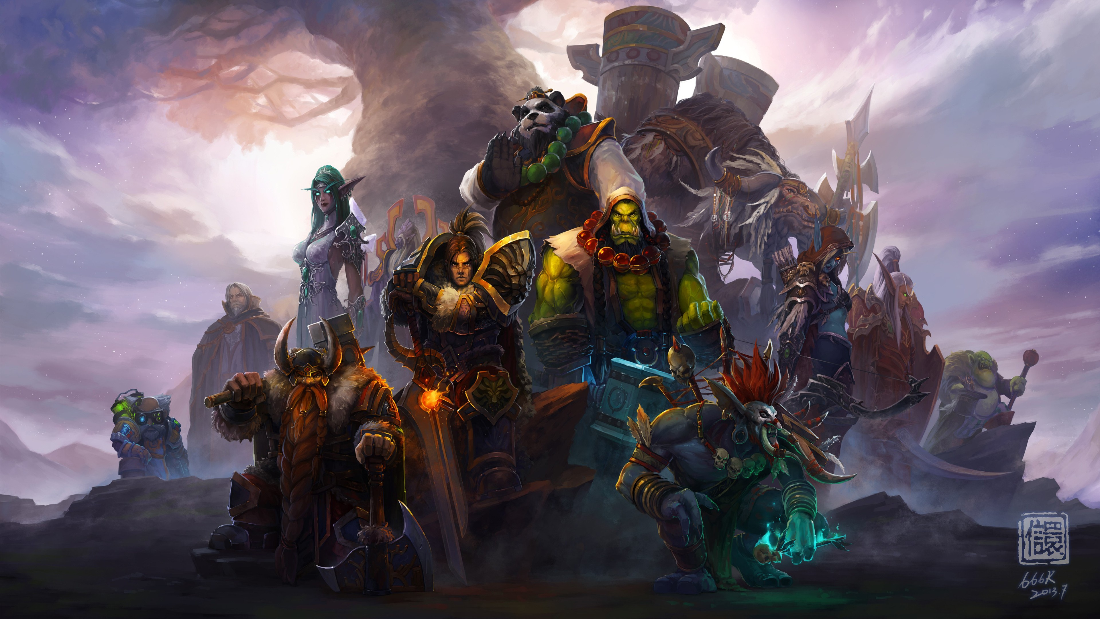 World Of Warcraft Characters 4K Wallpapers HD Wallpapers