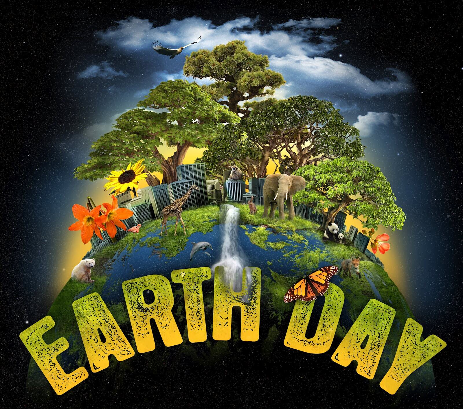 happy earth day hd graphic animated background wallpaper
