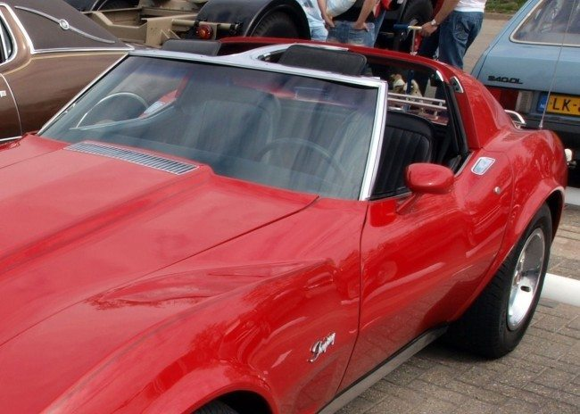 A C3 corvette with T-Tops
