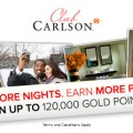 1,000 free Club Carlson points for following them on Twitter
