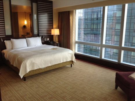 InterContinental Boston review bedroom