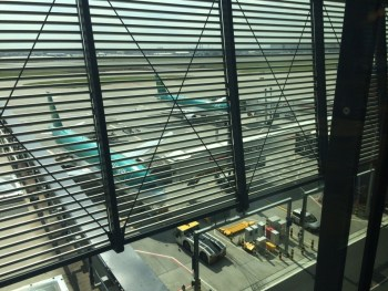 Aer Lingus Virgin Little Red lounge Heathrow apron review