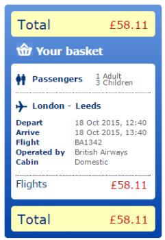 Leeds Bradford price