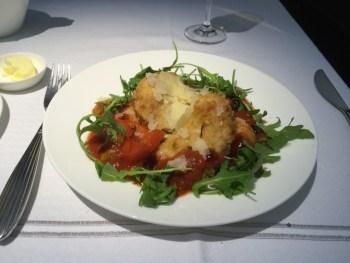 Qatar Airways first class food A380