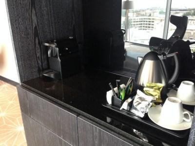hilton tallinn park review suite room nespresso and kettle