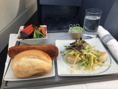 airberlin new york food starter scallops salad