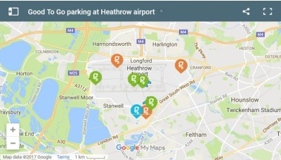 good to go parking heathrow airport map location