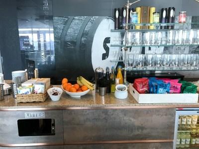 Aspire plus lounge Newcastle Airport snacks