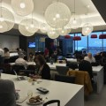 Bits: photos of the new BA Lounge in Boston, Flybe lands at Heathrow