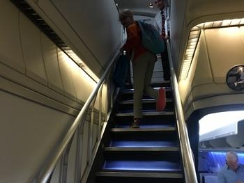 British Airways 747 stairs