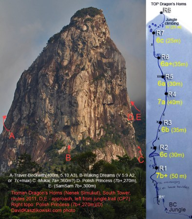 Topo (Route Description) for Polish Princess - The Dragon's Horns Tioman
