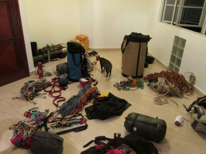 Massive gear sort before going