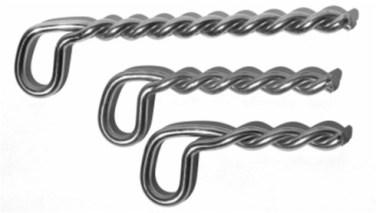 SS316 Twisted Leg Bolt