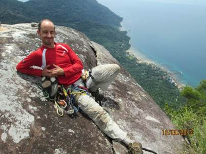 David Acott Summit of Waking Dream view at Mukut, Dragon horns Tioman