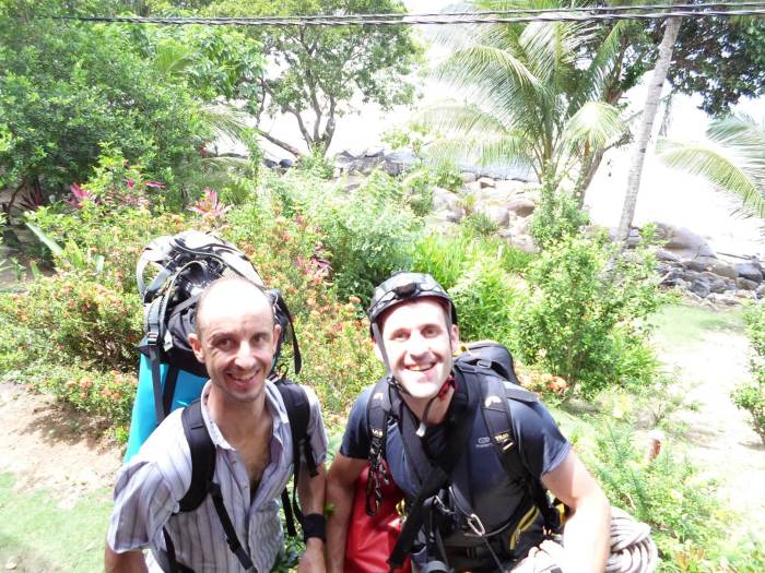 David and Stephane in Simukut Hill View ready to go on the trail