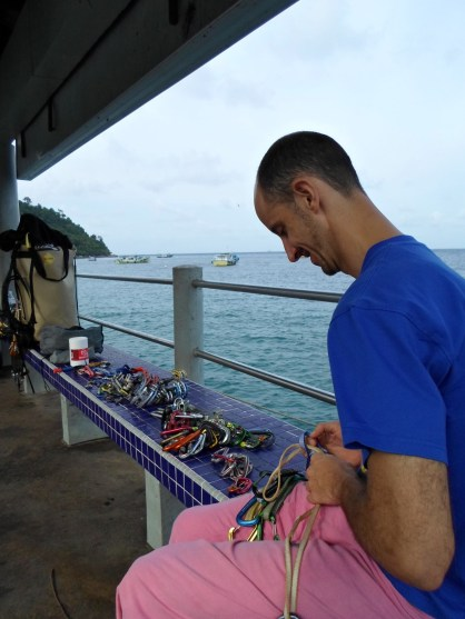 Gear Sort on the Genting jetty Tioman Dragon Horns 6