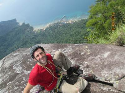 Stephane Coupleux Summit of Waking Dream view of Mukut, Dragon horns Tioman