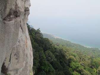 The view from pitch 3 on Damai Sentosa - Dragons Horns Tioman