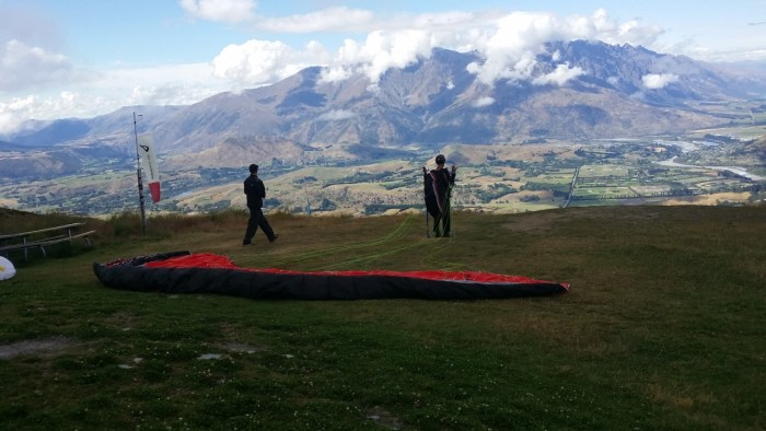 Stephane Coupleux Paragliding Queestown Launch Top Coronet