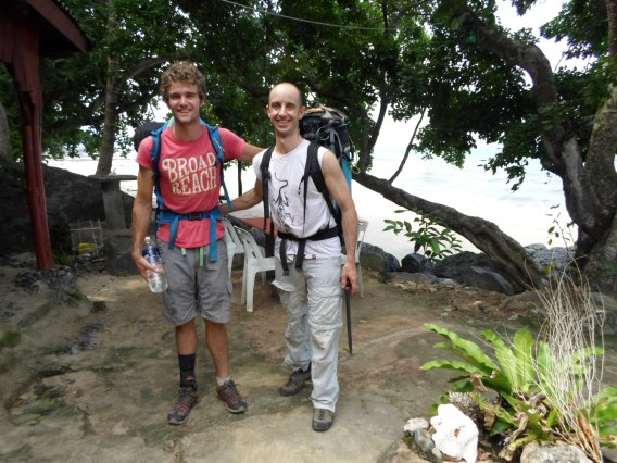 Lee and David at Simukut Hill View Tioman