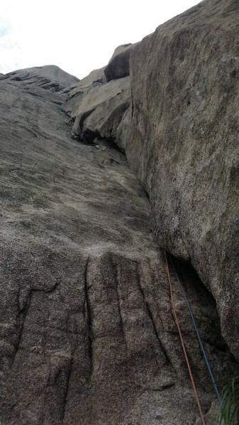 Pitch 2 On Chouinard A Rock Climbing Insebong South Korea