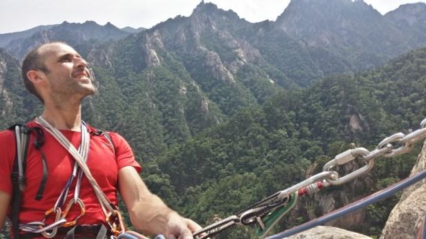 Stephane Coupleux Janggun Bong Rock Climbing South Korea Seoraksan 1