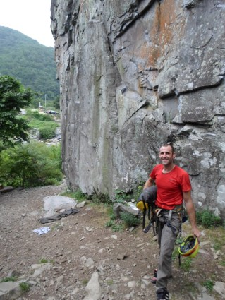 Stephane Coupleux at Hakdam-Am South Korea Rock Climbing