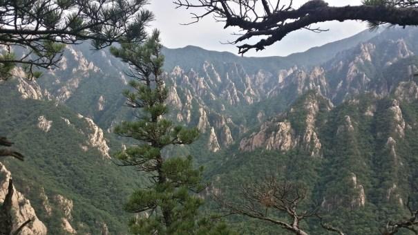 View at the park from Janggun Bong Rock Climbing South Korea Seoraksan