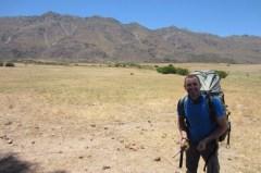Stephane at landing - Porterville paragliding