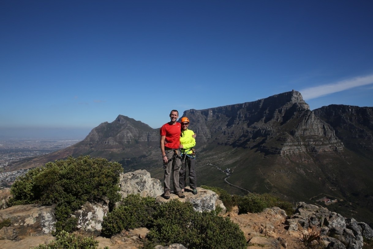 Stephane and Hande at the top of Lion's head