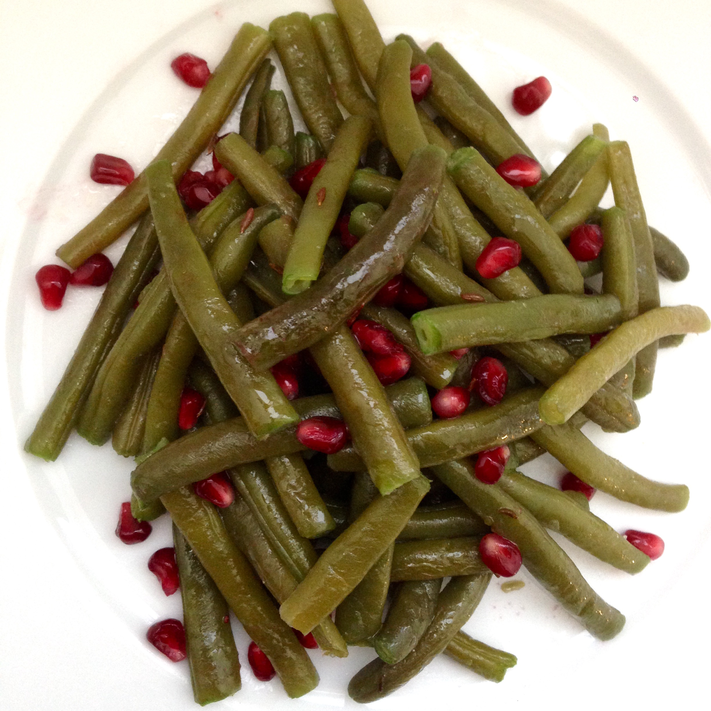 String Beans Pomegranate and Cumin - Fagiolini con Melograno e Cumino